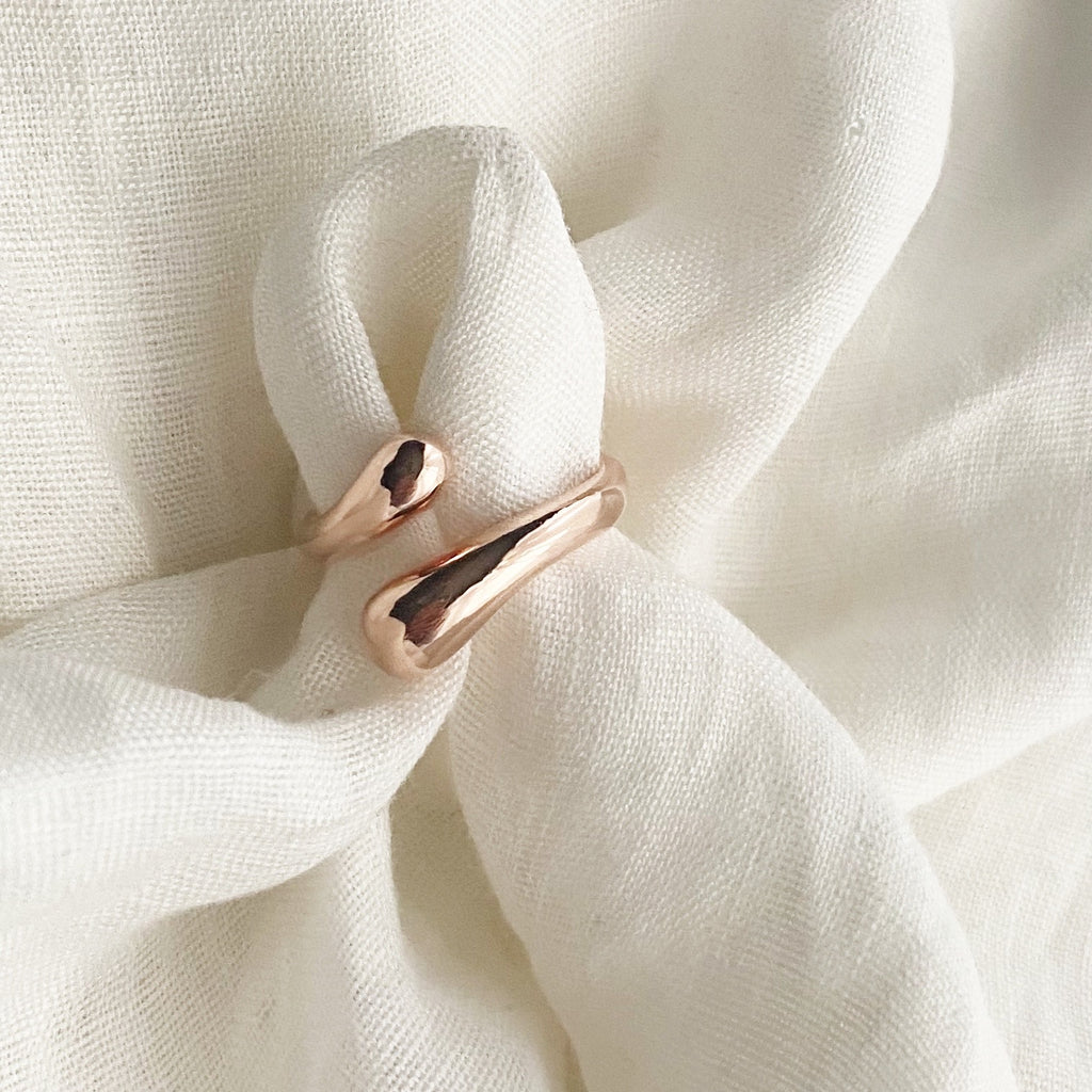 Water Drop Ring - Rose Gold - Blush & Co. Rose Gold Jewellery Australia