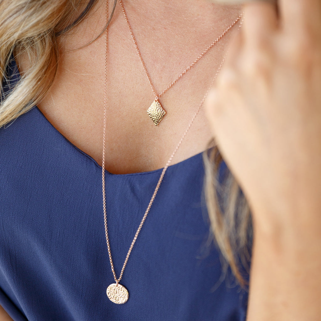 New Moon Necklace - Rose Gold - Blush & Co.