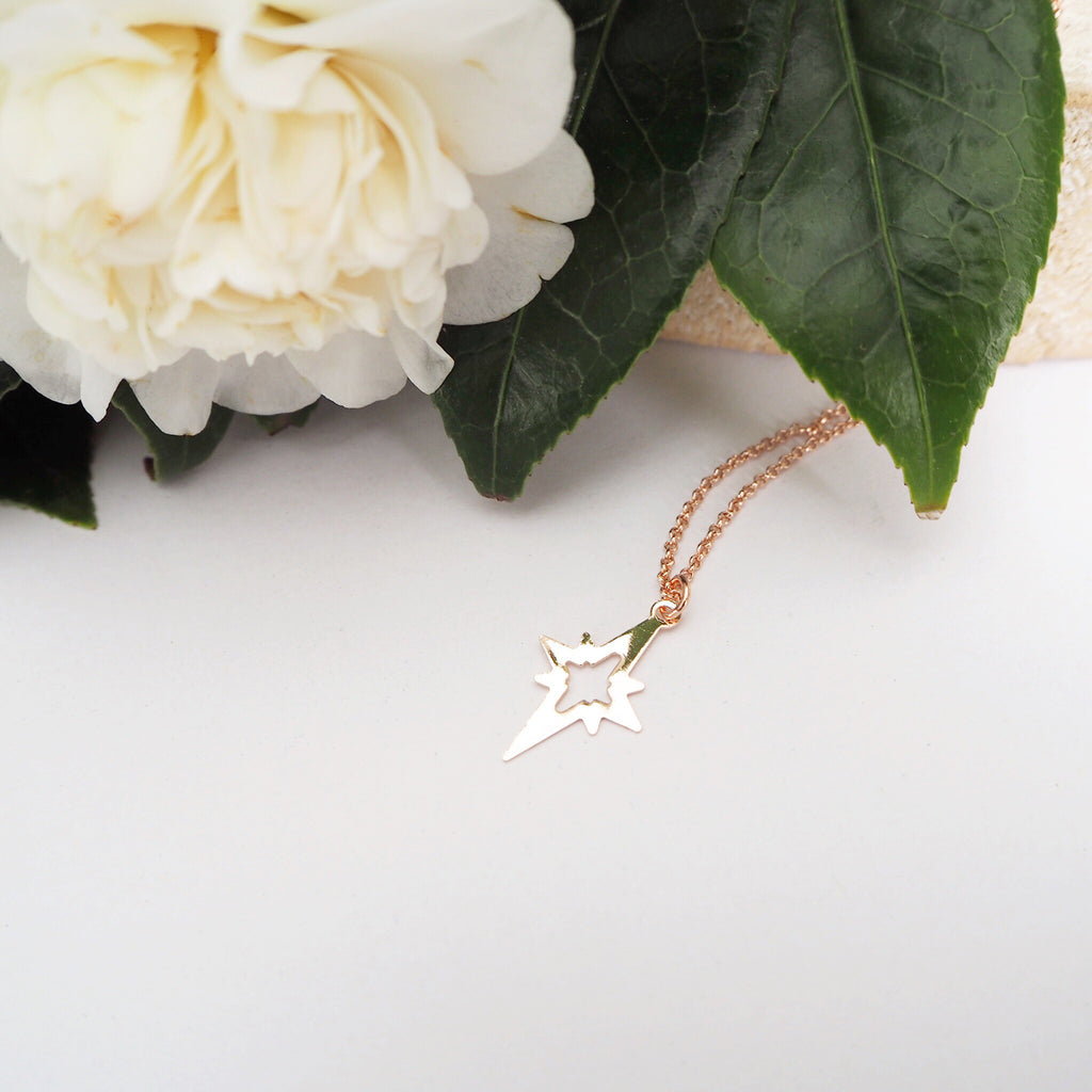 North Star Pendant Necklace - Blush & Co. Rose Gold Jewellery Australia
