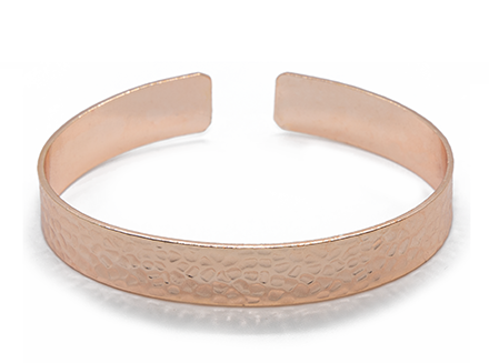 Hammered Cuff Bracelet - Rose Gold