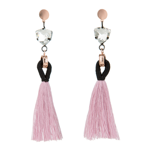 40% OFF Angelique Tassel Earrings - Blush - Blush & Co.