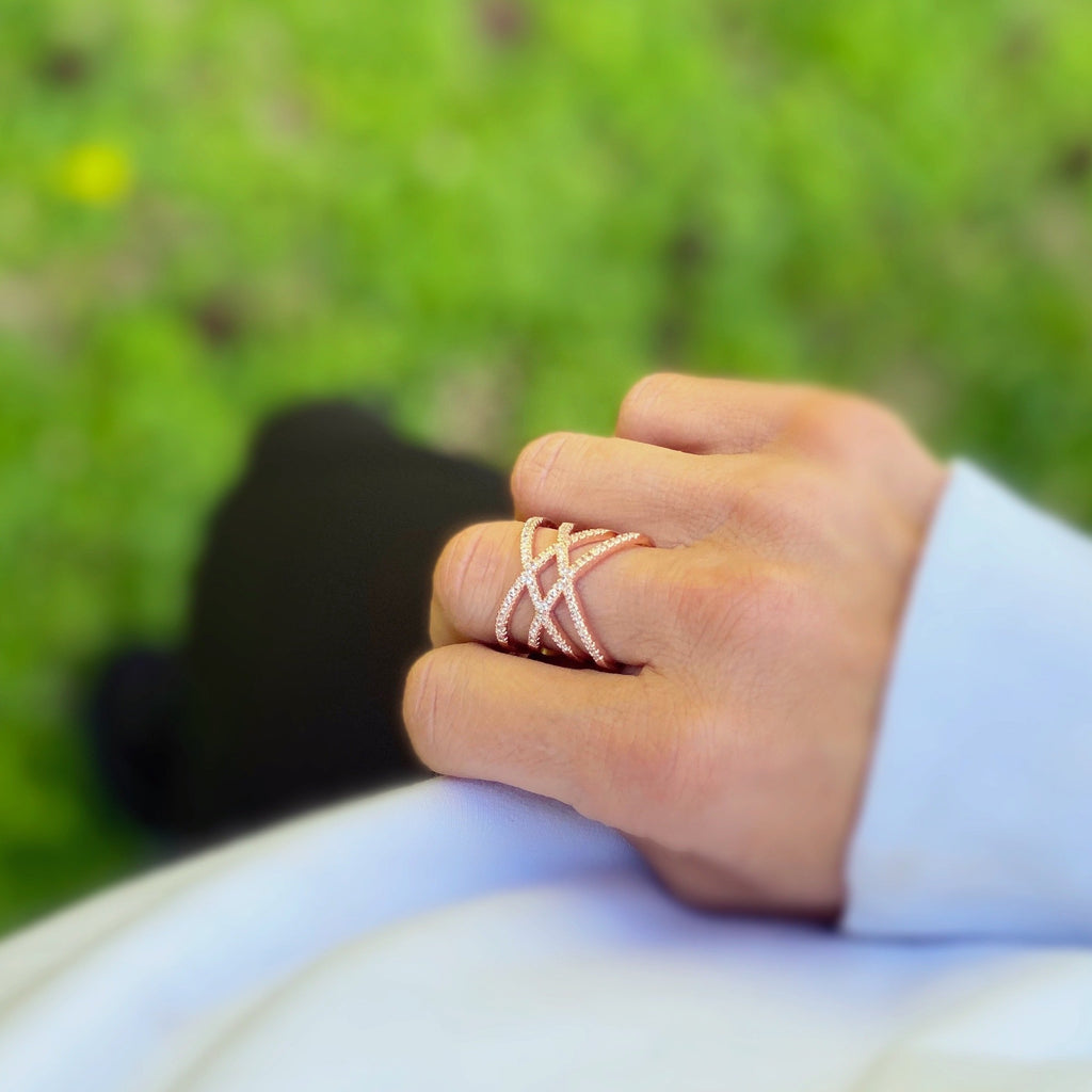 Brooklyn Rose Gold Statement Ring - Blush & Co. Rose Gold Jewellery Australia