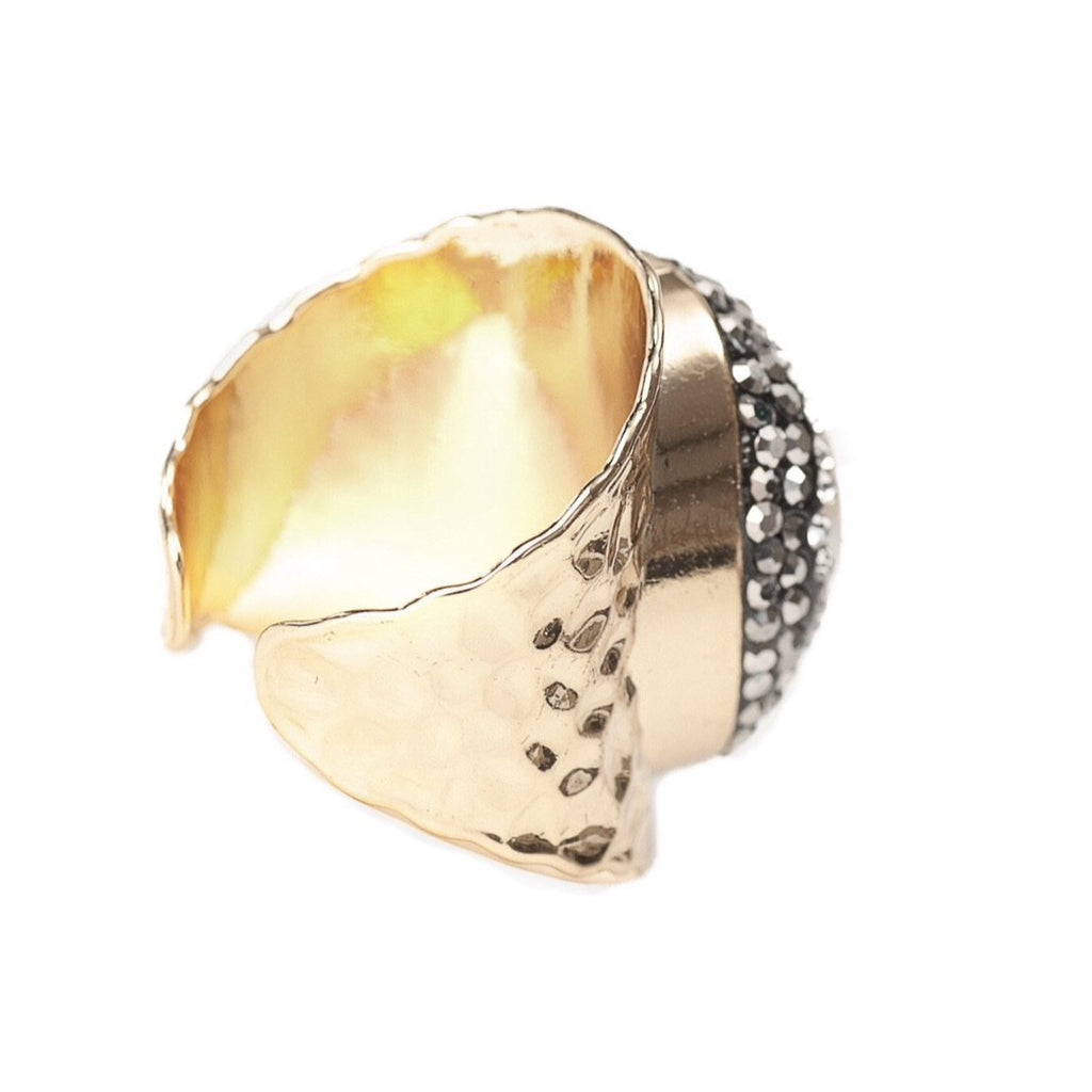 Kara Statement Ring - Gold - Blush & Co. Rose Gold Jewellery Australia