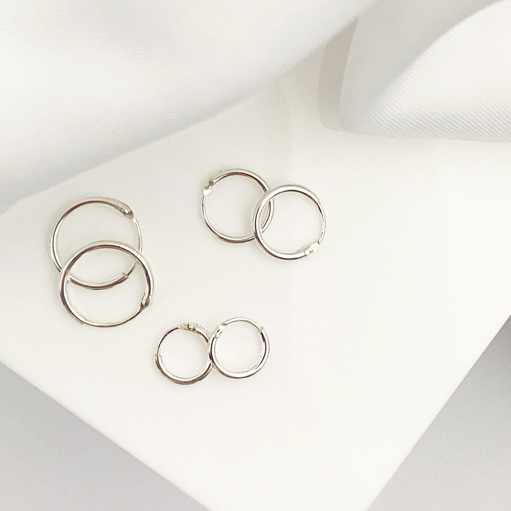 Large Rose Gold Hoop Earrings - Blush & Co.