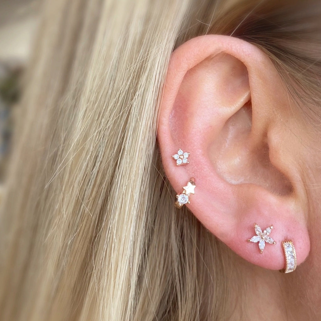Tiny Night Star Huggie Earring - Blush & Co. Rose Gold Jewellery Australia