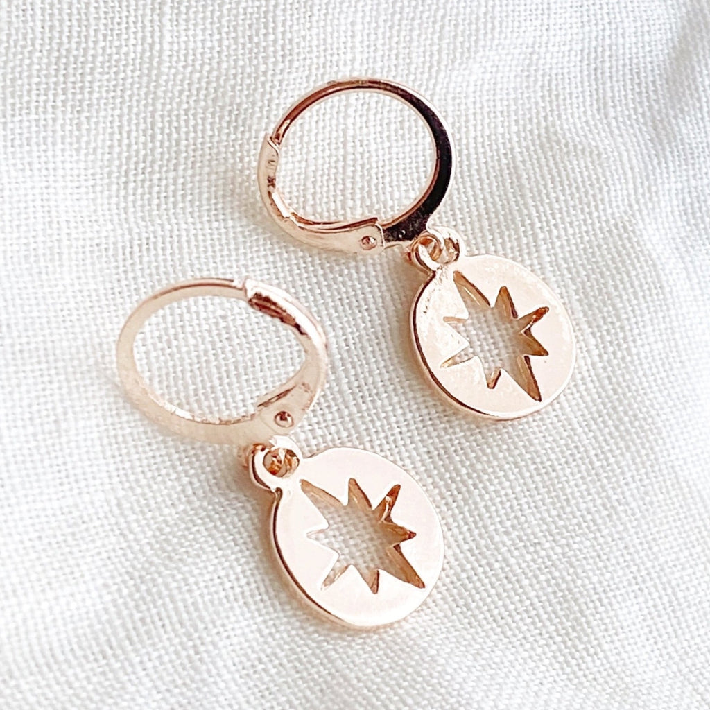 Electra Charm Hoop Earrings - Blush & Co. Rose Gold Jewellery Australia