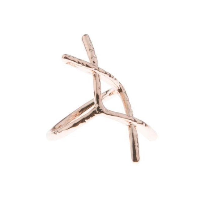 Hammered Rune Ring - Rose gold - Blush & Co.