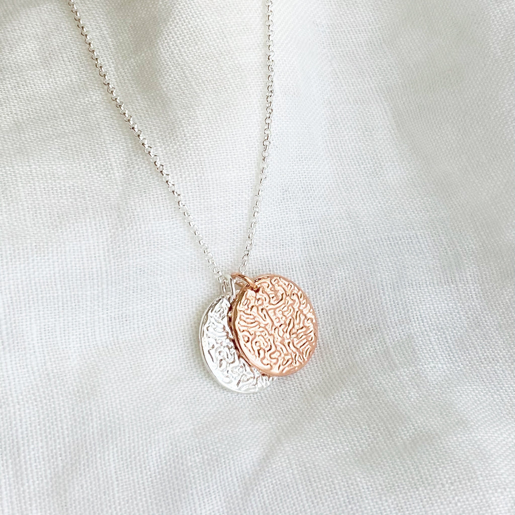Two Tone Pendant Necklace - Blush & Co. Rose Gold Jewellery Australia