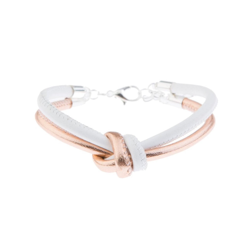 Blush Leather Bracelet - White - Blush & Co. Rose Gold Jewellery Australia