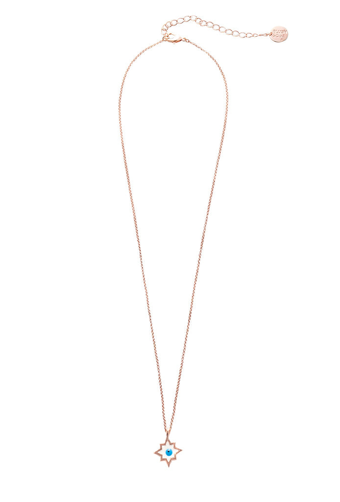 Evil Eye Pendant Necklace - Blush & Co. Rose Gold Jewellery Australia