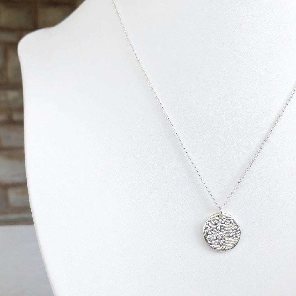 New Moon Silver Pendant Necklace - Blush & Co.