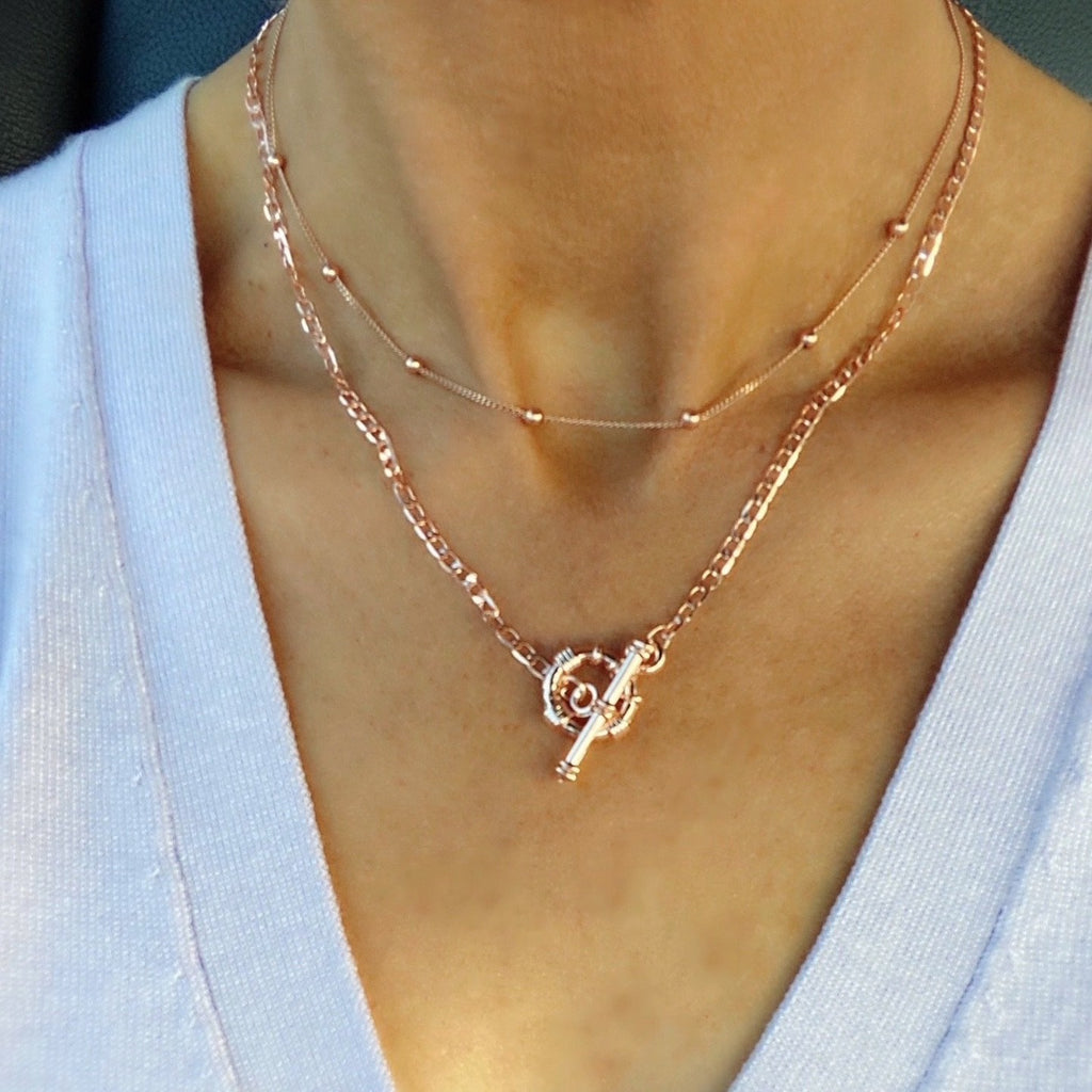 Toggle Chain Necklace - Blush & Co. Rose Gold Jewellery Australia