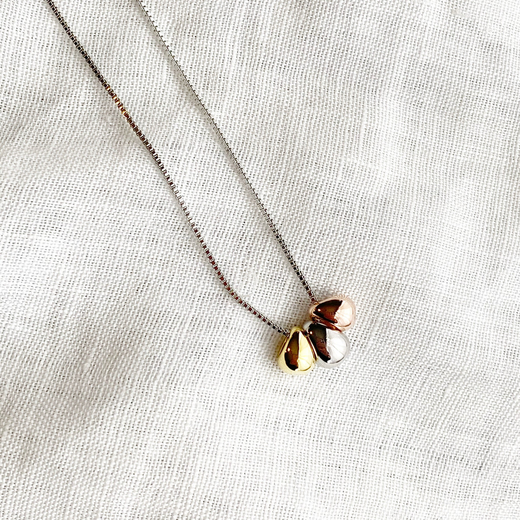 Tri-Tone Necklace - Blush & Co. Rose Gold Jewellery Australia