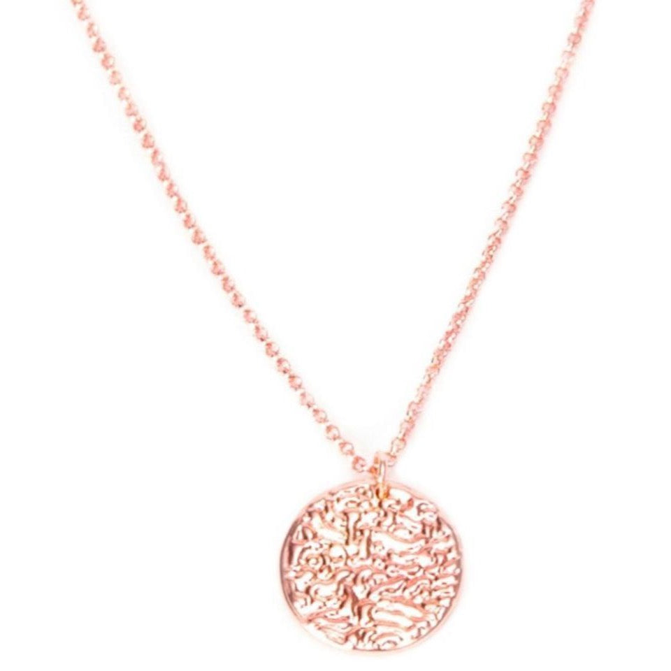 New Moon Rose Gold Pendant Necklace - Blush & Co. Rose Gold Jewellery Australia