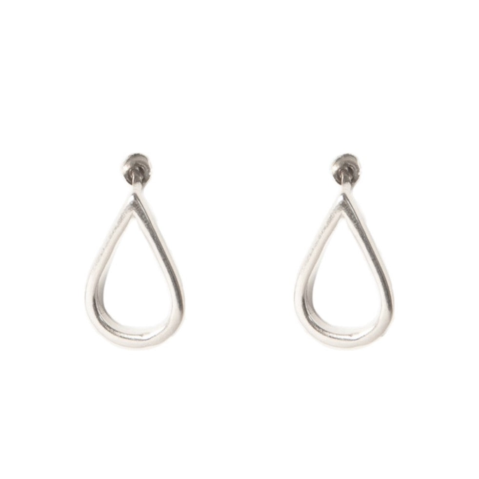 Teardrop Silver Stud Earrings - Blush & Co.