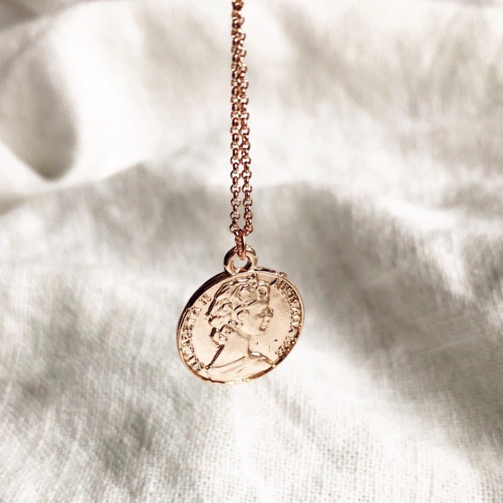 Coin Pendant Necklace - Blush & Co. Rose Gold Jewellery Australia
