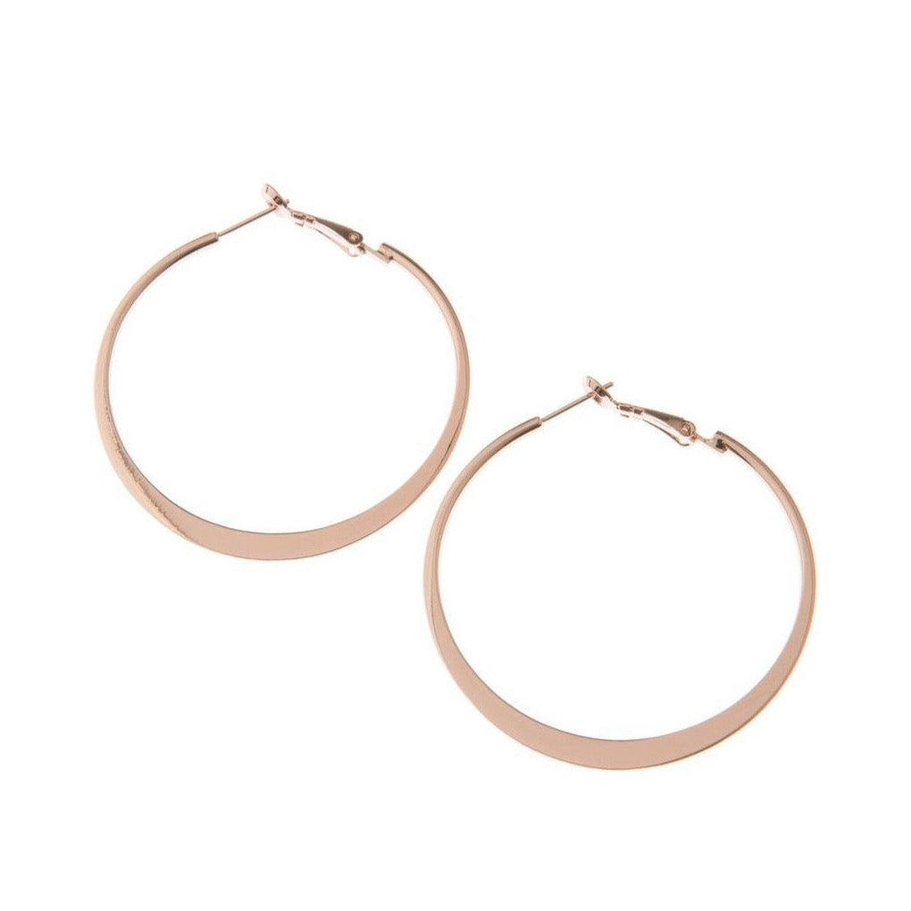 Classic Rose Gold Hoop Earrings - Blush & Co. Rose Gold Jewellery Australia