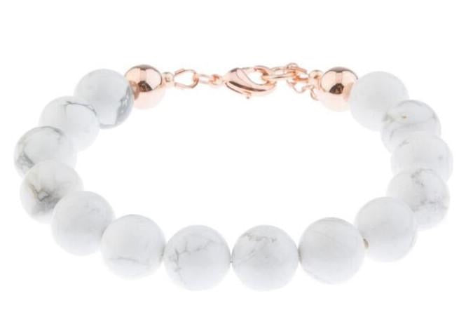 Marble Element Beaded Bracelet - Blush & Co. Rose Gold Jewellery Australia