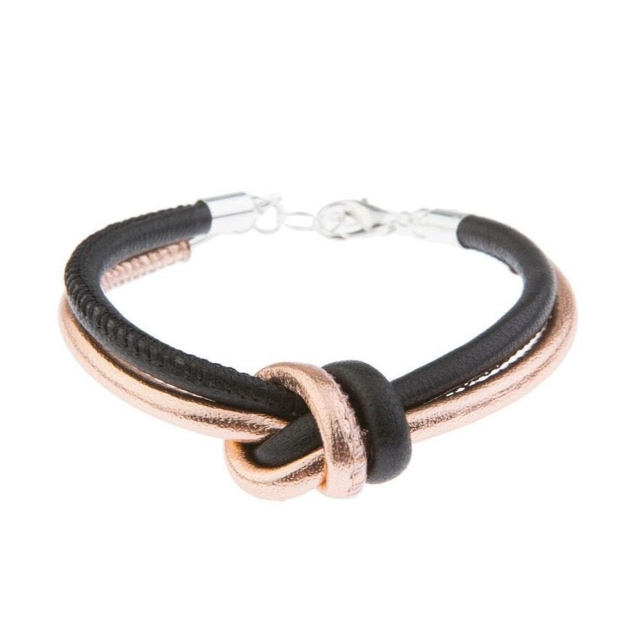Blush Leather Bracelet - Black - Blush & Co. Rose Gold Jewellery Australia
