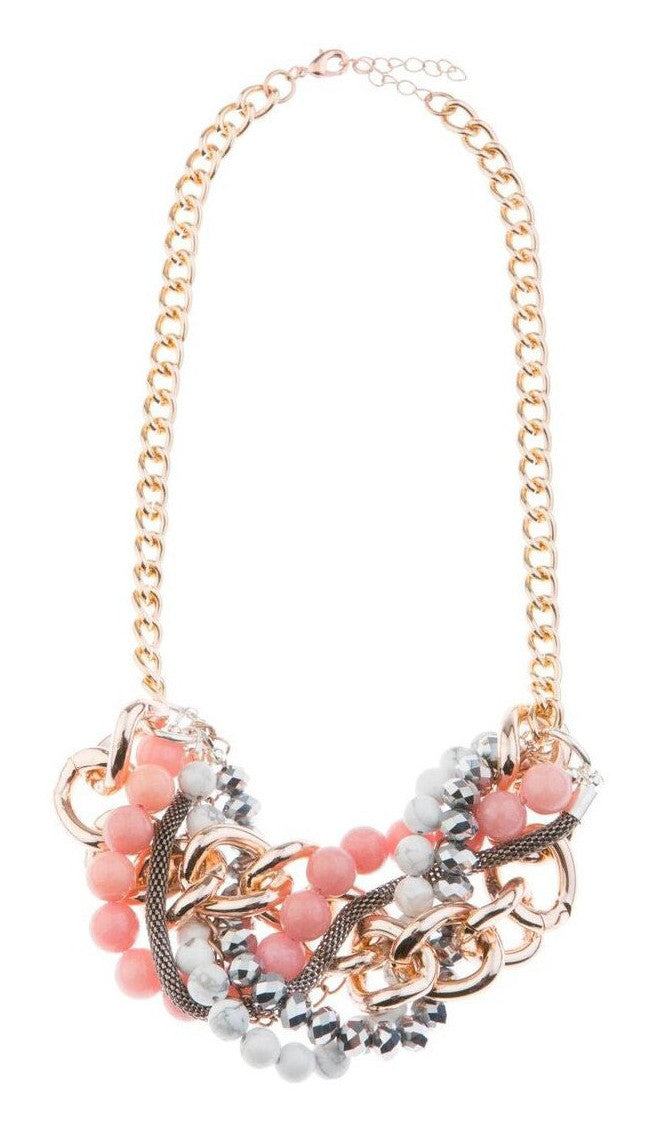 Blush In Bloom Statement Necklace