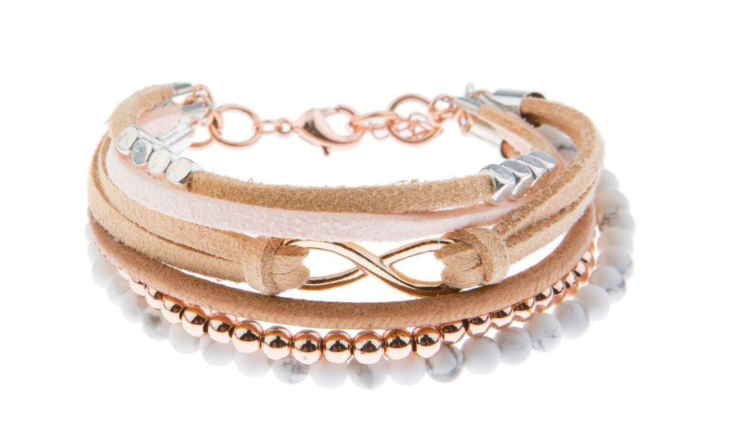 Fields of Blush Statement Bracelet - Blush & Co. Rose Gold Jewellery Australia