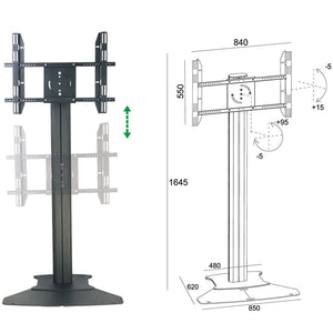 tv floor mount flat base (without wheels )