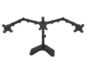 "Desktop Triple LCD Monitor Three LCD Arm Monitor Mount Stand Adjustable 3 Screens Fit for 10""-27"" Max Support"