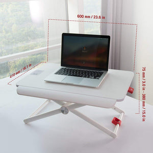 Laptop Standing Desk Converter, Height-Adjustable Stand Up Desk,  Laptop Table, Notebook Stand, Sit to Stand table (model RDF-L)