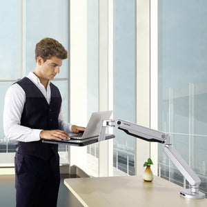 laptop (or writing desk)  sit stand workstation (gas spring mount)