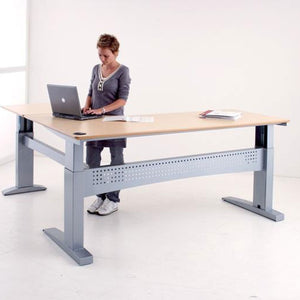 ConSet 501-11 3-Legged L-Shaped Heavy Capacity Electric Desk