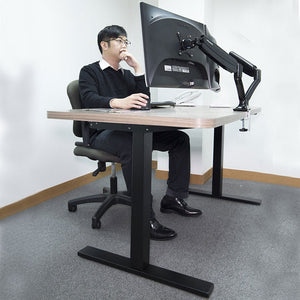 manually adjustable standing desk with hand crank (rct)