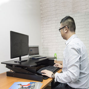 touch standing desk converter (gas spring +  convenient adjustment handle)  rtp
