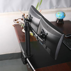 Dual Monitor Clamp Type stand with Curved Arms 2ms-ct2