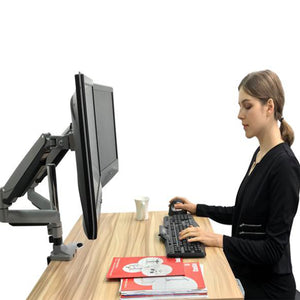 "Dual Monitor Height Adjustable Gas Spring Desk Mount Stand Fits 10""-29"" LCD LED Monitors ! Aluminium material Heavy duty (MODEL :2MS-GLP)"