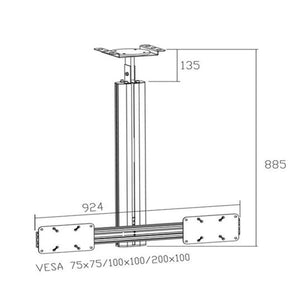 LCD Tv Ceiling Mount CM 1202B