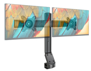 "Dual Height Adjustable Screen Monitor Mount, Fit 17"" - 27"" Monitor Screens (Suitable for standing desks)"