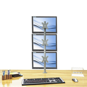 triple monitor stand - fix type & vertical (3ms-ftv)