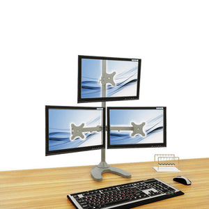 triple monitor stand - free standing (3ms-f)