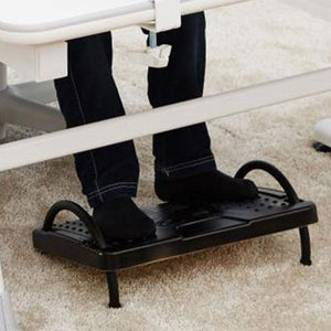 Adjustable Height Ergonomic Footrest for Office, Under Desk Foot stool , Textured surface massages the soles of your feet for stress reduction (Model Fr01)