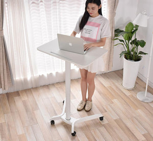 Instant Multi-Purpose Rolling Podium Lectern with Wheels Laptop Workstation, Height Adjustable Pneumatic Sit-Stand Mobile Laptop Cart