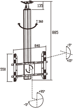 LCd Tv Ceiling Mount CM 106A