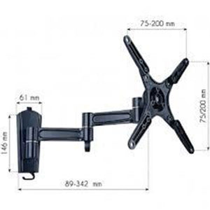 "13-37"" LED TV LCD Tilt Wall bracket 3 Joints Black"