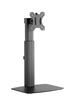 Tall Free Standing Single Monitor Mount Desk Stand, Pneumatic Spring Height Adjustable Monitor Arm for Screens up to 32 inches - Black