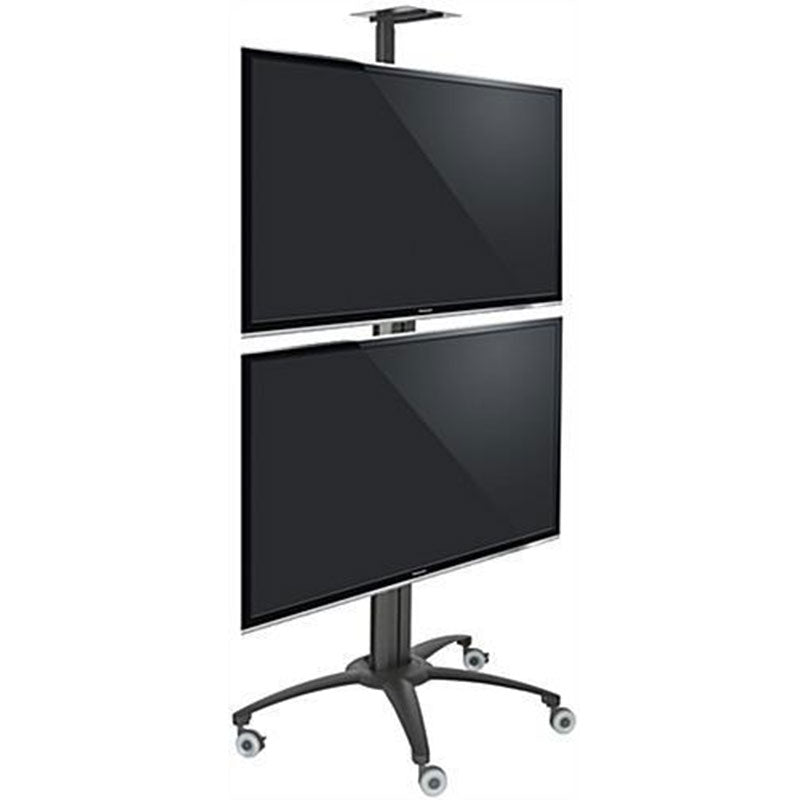 2 or Dual TV Cart Vertical Mounting for Advertsing or Conference RKDV