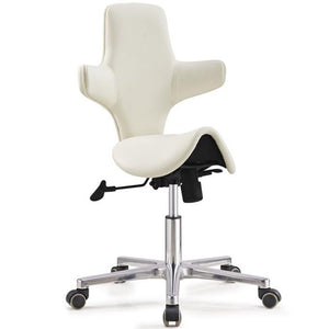 saddle sit stand office chair model with tilting back rest
