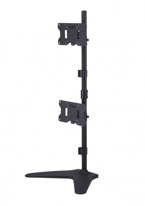Dual LED LCD Monitor Stand, Free-Standing Desk Mount for 2 / Two Screens up to 32 inch, Extra Tall 36 inch Pole Heavy Duty Fully Adjustable Stand Vertical Array, Black (200MSFVB)