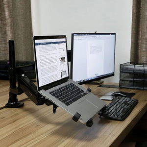 dual lcd monitor laptop mount arm (gas spring) l2