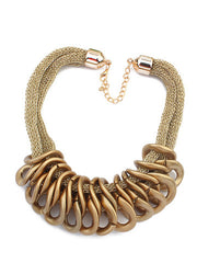 Fashion Chunky Chain Alloy Necklace For Women