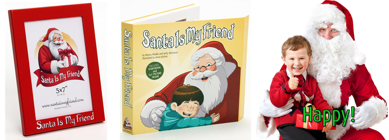 Santa Is My Friend Book & Picture Frame