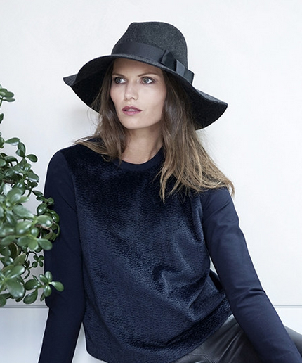 Textured Charcoal Wool Hat